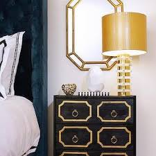 navy blue and gold nightstand design ideas