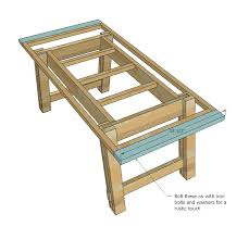 How To Build A Dining Room Table Plans by Ana White Benchright Farmhouse Table Diy Projects