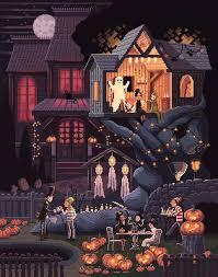 halloween scenes pixels huh
