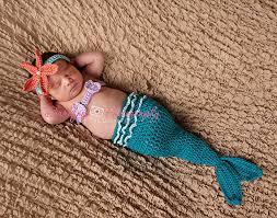 Newborn Halloween Costume 0 3 Months Turquoise Newborn Mermaid Tail Halloween Costume 0 3 Month