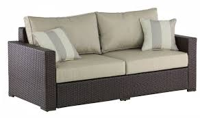 Rattan Settee Serta At Home Laguna Outdoor Sofa With Cushions U0026 Reviews Wayfair