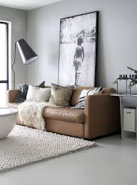 Large Brown Leather Sofa Bathroom Design Light Brown Leather Sofa White Walls Living Room
