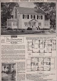 House Plans Colonial Tour A Real Sears Roebuck And Co Mail Order Craftsman Home