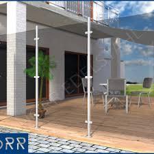balkon sichtschutz aus glas edelstahl windschutz sichtschutz terrasse balkon f glas ebay