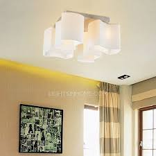 4 Light Ceiling Fixture Modern Style 4 Light Glass Flush Mount Cheap Ceiling Lights