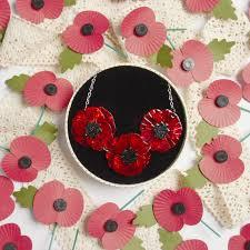 erstwilder poppy field necklace