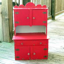 vintage child u0027s toy kitchen cabinet wood cupboard red glass knobs