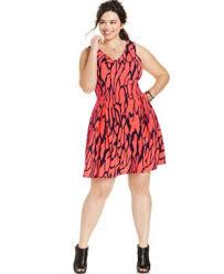 soprano plus size sleeveless printed skater dress dresses plus