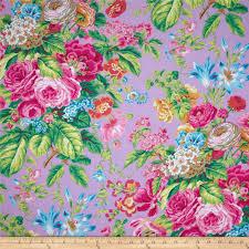 Home Decor Fabric Australia Kaffe Fassett Floral Delight Lavender Discount Designer Fabric