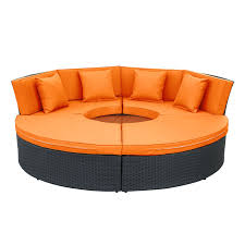 pursuit circular outdoor patio daybed set multiple colors by modway