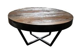 Industrial Rustic Coffee Table Remarkable Round Industrial Coffee Table With Magnificent Round
