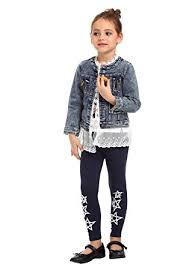 amazon com ephex girls dress denim jean jacket lace outwear