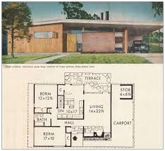 house plans 1960s house plans 2 bedroom cottage style home plans