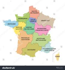 France Region Map by France Metropolitan Map New Regions Stock Vector 447294646