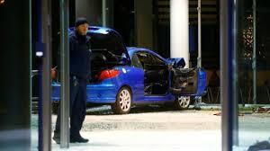 spd crash car rammed into german political party u0027s hq bbc news