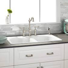 Kitchen Sink Brand 32 Berwick White Bowl Cast Iron Drop In Kitchen Sink Kitchen