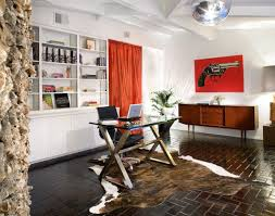 office modern small home office ideas with red office chair and