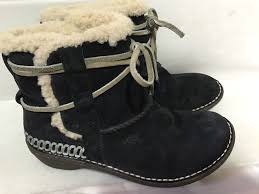 s lace up ankle boots australia ugg australia 5178 cove black suede shearling lace up ankle boot