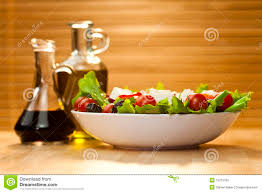 salad dressing with olive oil and vinegar stock photo image