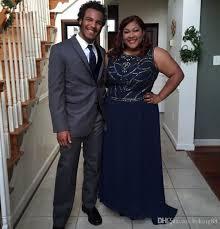 african navy blue prom dress 2017 plus size women long