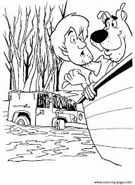 scooby shaggy boat scooby doo ddce coloring pages printable