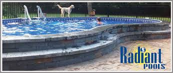 radiant semi dug on ground swimming pools from ipg
