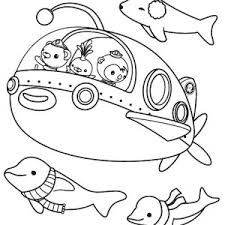 octonauts coloring pages kwazii and captain barnacles of the octonauts coloring page
