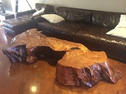 Redwood Coffee Table Large Redwood Slab Coffee Table Contemporary Los Angeles By