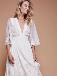 free people eclair lace maxi dress in white lyst