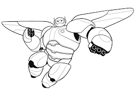 kids under 7 big hero 6 coloring pages