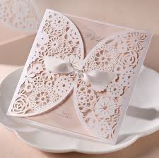 wedding invitations with ribbon wishmade 50 count set laser cut invitations cards kits