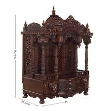crafted mandir temple teak wood for home pearl handicrafts