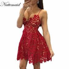 aliexpress com buy nattemaid lace dress back zipper spaghetti