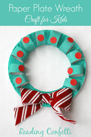 cardboard tube and paper plate wreath craft reading confetti
