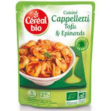 plat cuisiné cereal bio plat cuisiné cappellettis bio tofu epinards 220g