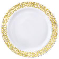 wedding plates for sale plastic 10 25 plates trim party wedding disposable