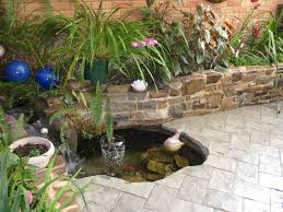 home garden design plan small pond and green foliages makeovers