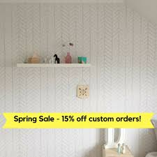 Self Stick Wallpaper by Removable Wallpaper Herringbone Wallpaper Wallpaper