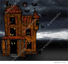 spooky house halloween illustration of halloween spooky house