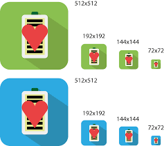 android app icon size logo design for healty battery android app steemkr