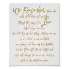 wedding memorial sign in loving memory posters zazzle