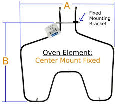 oven element bake fixed center mount u2013 tyree parts and hardware