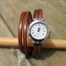bracelet cuir montre images Montre bracelet cuir camel 2 tours de poignet fermoir plaqu jpg