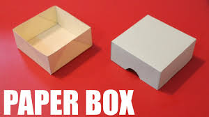 How To Make A Box With Paper - how to make a paper box easy diy paper box with lid