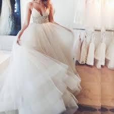 Wedding Dresses With Straps Spaghetti Straps Wedding Dresses Waist With Beaded
