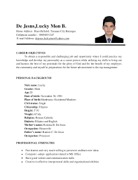 Philippine Resume Format Sample Resume For Electrical Engineer In Philippines Resume
