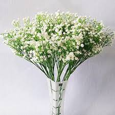 10pcs baby breath gypsophila artificial fake silk plants wedding