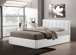 Contemporary Platform Bed Wholesale Interiors Baxton Studio Templemore White Leather