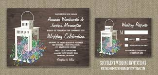 lantern wedding invitations succulent wedding invitations vintage rustic wedding invitations