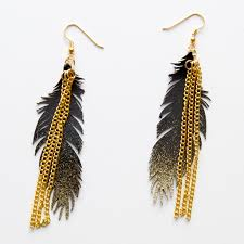 feather earrings for kids gold sparkle feather earrings andrea s notebook